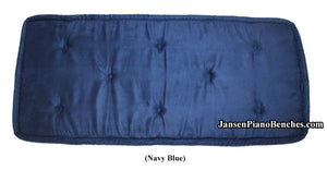 blue piano bench cushion jansen