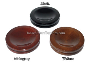 "3 1/2"" Jansen Satin Piano Caster Cups"