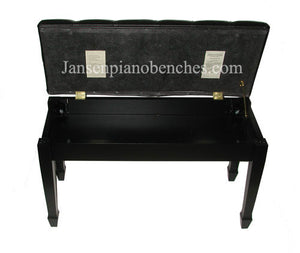 jansen piano bench music storage compartment