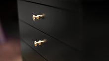 Load image into Gallery viewer, jansen sheet music cabinet black finish brass knobs