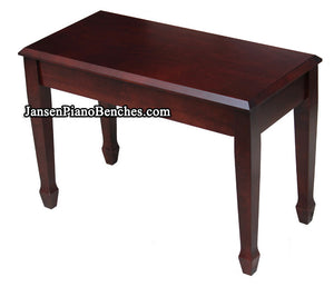 Jansen grand piano bench mahogany finish spade legs