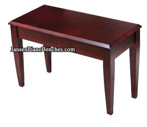 Jansen Grand Piano Bench Wood Top