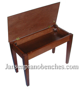 jansen piano bench walnut wood top