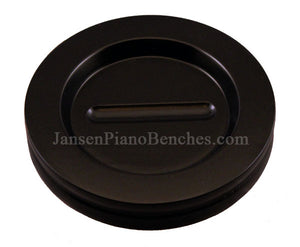 hardwood grand piano caster cup satin blac