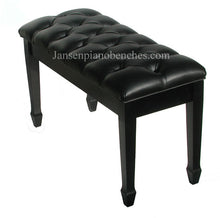 Load image into Gallery viewer, jansen grand piano bench diamond tufted top black