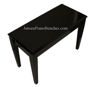 Jansen upright piano bench high polish ebony