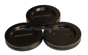 Satin Ebony Grand Piano Caster Cups by Jansen