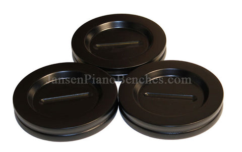 jansen grand piano caster cups ebony finish