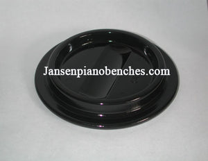 black lucite piano caster cup