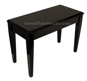 jansen black piano bench high polish for upright pianos