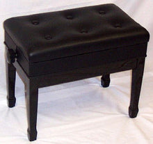 Load image into Gallery viewer, Jansen Imported Artist Bench Ebony High Gloss with music compartment J-850