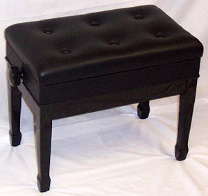 Jansen Imported Artist Bench Ebony High Gloss with music compartment J-850