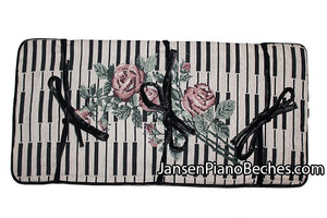 Keyboard Rose Piano bench cushion pad