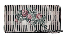 "Load image into Gallery viewer, Keyboard & Rose Piano Bench Cushion - 14"" x 29"""