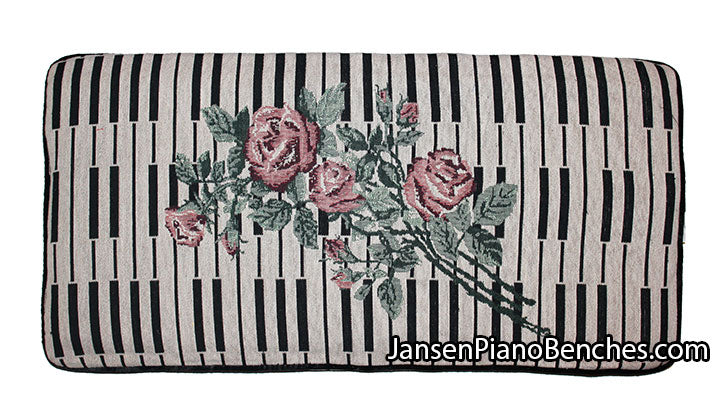 keyboard rose piano bench cushion
