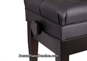 satin ebony adjustable piano bench duet