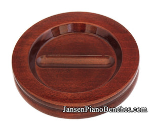 mahogany high polish caster cups for grand piano