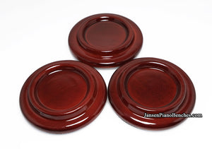 mahogany high gloss grand piano caster cups