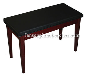 mahogany piano bench padded top