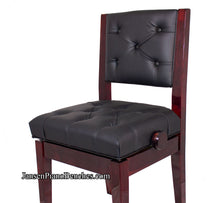 Load image into Gallery viewer, mahogany piano chair tufted high polish