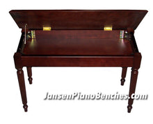 Load image into Gallery viewer, mahogany piano bench with sheet music storage
