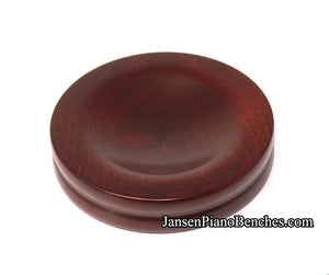 Jansen piano caster cup mahogany satin finish