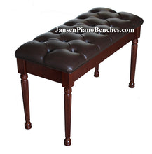 Load image into Gallery viewer, jansen grand piano bench mahogany high polish finish