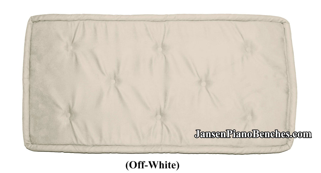 jansen piano bench cushion white