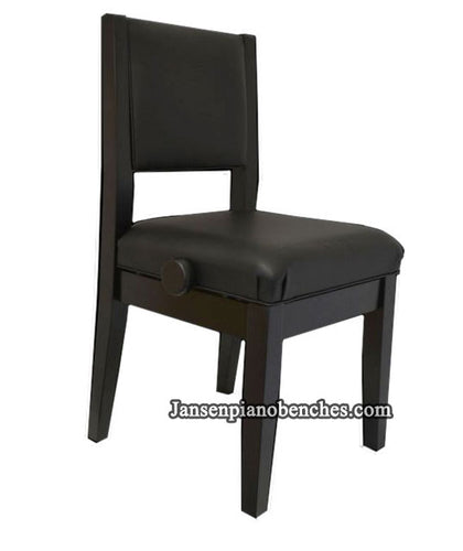 Piano chair padded back adjustable lumbar support