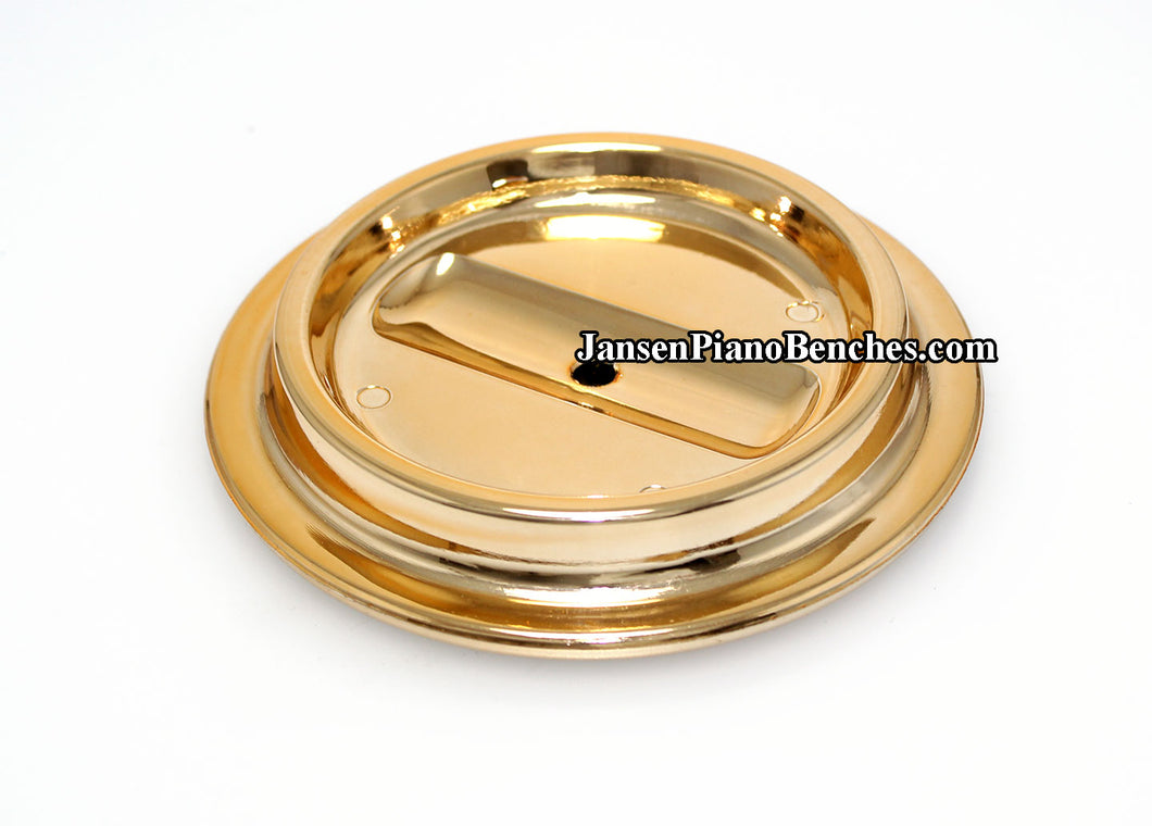 brass lucite piano caster cups