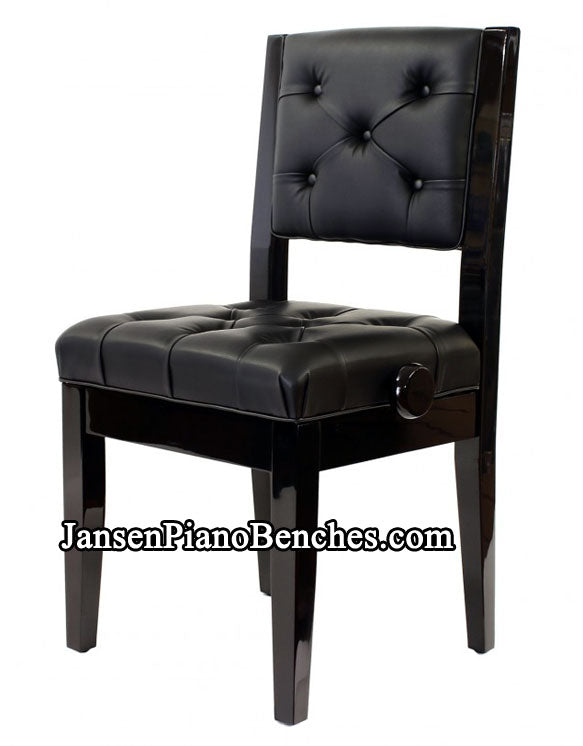 Adjustable Piano Chair Padded Back
