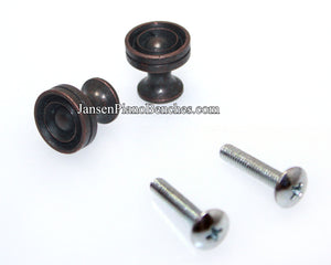piano fallboard knobs antique bronze 350c