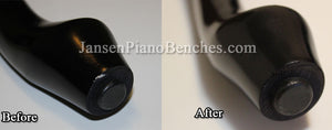 Piano scratch repair