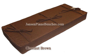 brown piano bench cushion kashmere box top grk