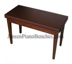 schaff walnut vinyl upholstered piano bench