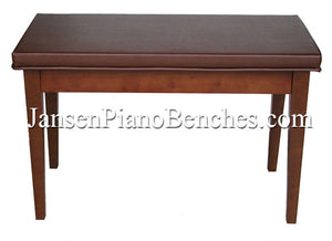 walnut piano bench schaff box top