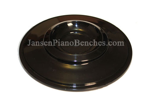 piano caster cup plastic black finish