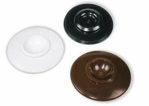 plastic piano caster cups brown black white