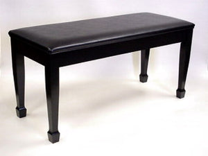black jansen grand piano bnech upholstered top spade legs