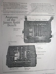 jansen artist bench repair instructions