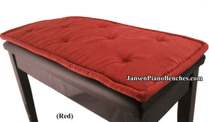 red piano bench cushion jansen