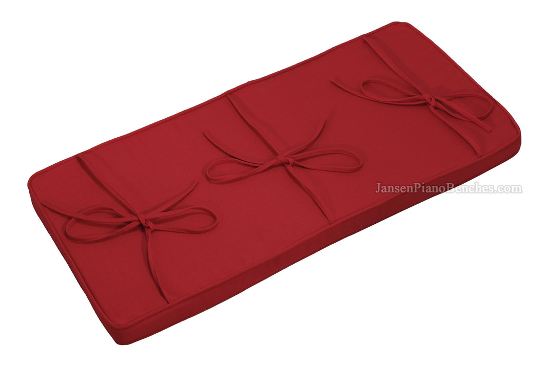 red piano bench cushion