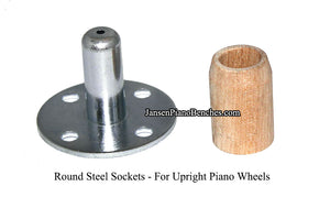 piano wheel round socket for upright pianos