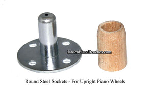 Darnell Double Wheel Piano Casters - Dual Rubber Wheels