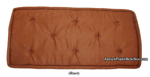 rust piano bench cushion jansen