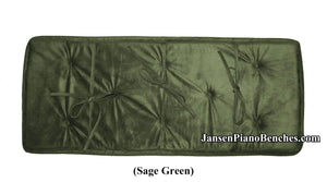 jansen piano bench cushion sage green