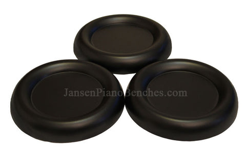 5.5 inch large grand piano caster cups black