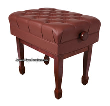 Load image into Gallery viewer, satin mahogany adjustable piano bench