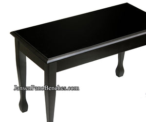 black piano bench by schaff spade legs