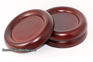large grand piano caster cups mahogany 838m